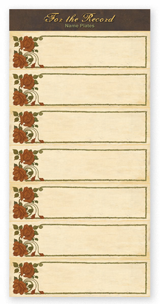 For The Record Collection - Rose Tag Accessory Sheet