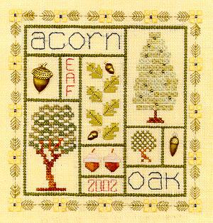 Acorn Sampler - Cross Stitch Pattern