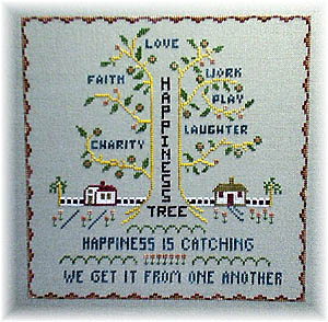 Happiness Tree - Cross Stitch Pattern