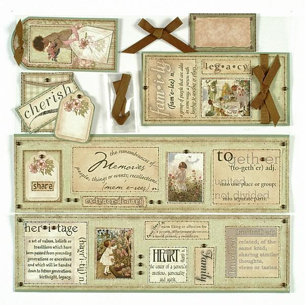 Heritage Almost Done Scrapbook Page Kit