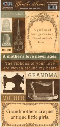 Gentler Times Collection - Grandma - Accessory Sheet
