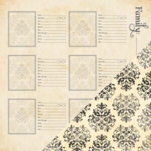 Heritage Double-Sided Cardstock - More Family Names / Wallpaper