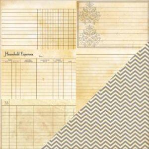 Heritage Note Cards - Horizontal / Chevron