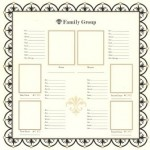 Bazzill Heritage Printed Paper 1 - Family Group Chart 1