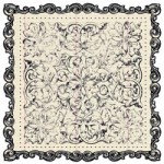 Narratives Antique Cream Collection - Floral Scalloped