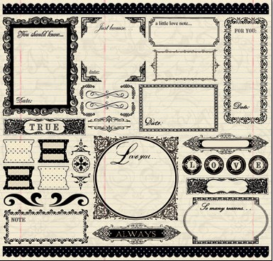 Narratives Antique Cream Collection - 12 X 12 Sticker Sheet