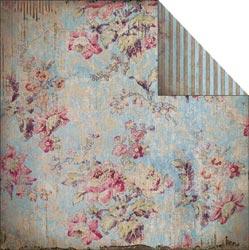 Fabscraps - Heritage - Floral/Blue