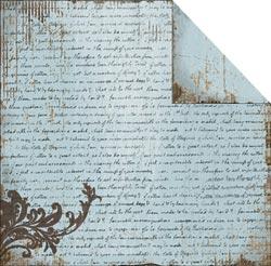 Fabscraps - Heritage - Script Blue