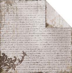 Fabscraps - Heritage - Script 1 - White