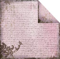Fabscraps - Heritage - Script 4 Pink