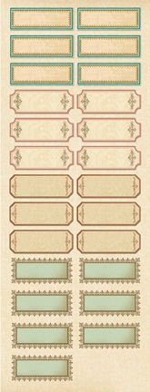 AC Name Labels Embossed Stickers - ancestry.com