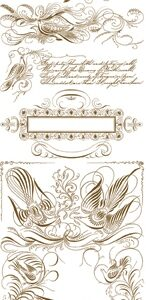 AC Decorative Spencerian Rub-On Transfers - ancestry.com