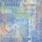 Family Traditions Collage - Family Reunion / Picnic Paper