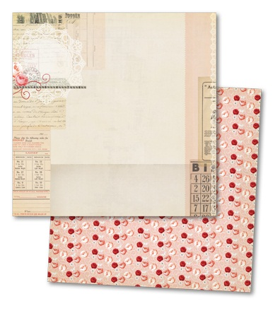 Lost & Found 3 - Ruby - Pink Lace Paper