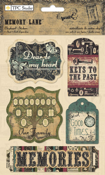 Memory Lane - Chipboard Stickers