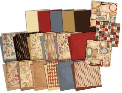 7gypsies Savannah 8x8 2-Sided Paper Scrapbook Pack