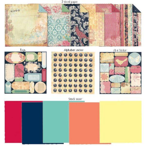 "7 Gypsies - Victoria Paper Scrap Pack 8"" x 8"""