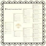 Bazzill Basics - Heritage Collection - 12 x 12 Paper - Family Generations Chart
