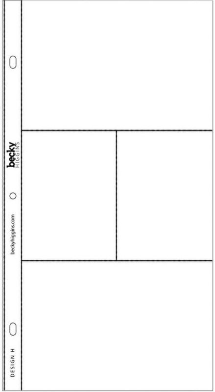 Project Life Photo Pocket Pages - Design H
