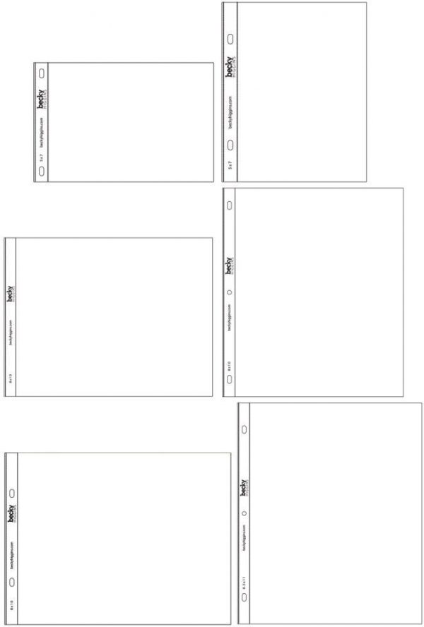 Project Life Photo Pocket Pages - Small Variety Pack 2