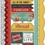 Forever Family - Kindred Border - Cardstock Stickers