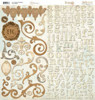 "Et Cetera - Adhesive Chipboard 12""X12"" Sheet"