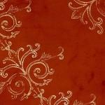 Tim Coffey - Fall Gold Scroll On Rust