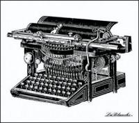 Lablanche Silicone Stamp - Ancient Typewriter
