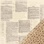 Paper Reverie - Brun - Antique Dictionary