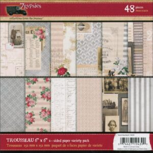 "7 Gypsies - Trousseau Double-Sided Paper Pack - 6""X6"" - 48 Sheets"