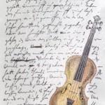 Lablanche Silicone Stamp - Script Violin