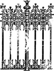 Fence Background - Printery - Clear Stamp