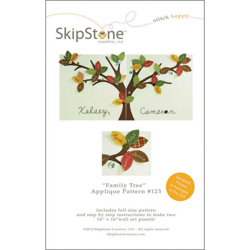 How to scrapbook your family tree - Family Tree Duo Applique Embroidery Pattern Scrapbook Your Family Tree