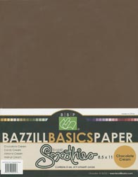 Bazzill Basics Smoothies 8.5x11 Scrapbooking Paper Multi-Pack: Chocolate Cream