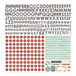 Basic Gray - Carte Postale - Alphabet Stickers