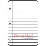 Deep Red - Cling Stamps - Notebook Paper