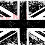 Deep Red - Cling Stamps - British Flag Grunge