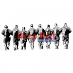 Deep Red - Cling Stamps - Band of Soldiers