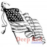 Deep Red - Cling Stamps - Old Glory