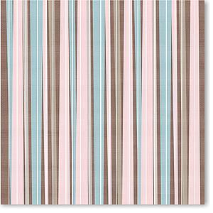 """Brown/Pink Stripes 8"""" X 8"""""""