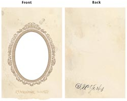 "7 Gypsies - Vintage Chipboard 2-Piece Oval Frame Cover 5""X7"""
