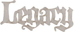 Fabscraps - Die-Cut Grey Chipboard Word - Legacy