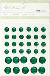 Rhinestones - Self Adhesive - Green