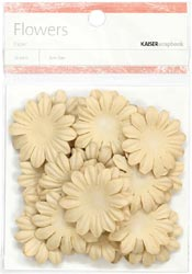 Paper Flowers - 3.5cm - Taupe