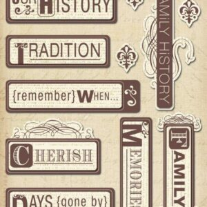 Heritage Words - Sticker Medley