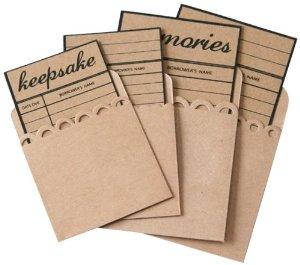 Maya Road - Kraft Library Card With Envelopes