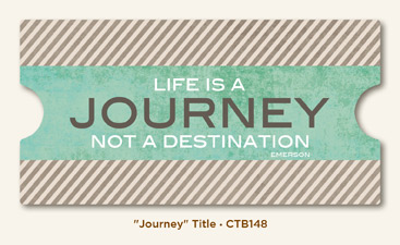 Collectable Memorable Cardstock Title - Journey