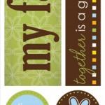 """Family - Mini Theme Stickers 3""""X12"""""""