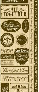 Reminisce - Our Family Signature 3 Cardstock Combo Stickers