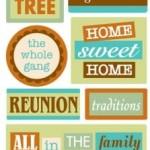 Family Words Sandylion Essentials Stickers